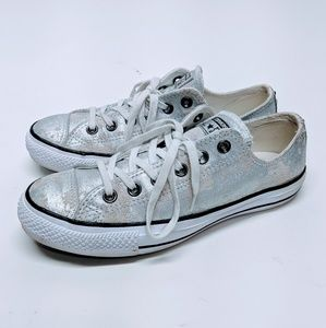 Converse All Star Distressed Metallic Silver
